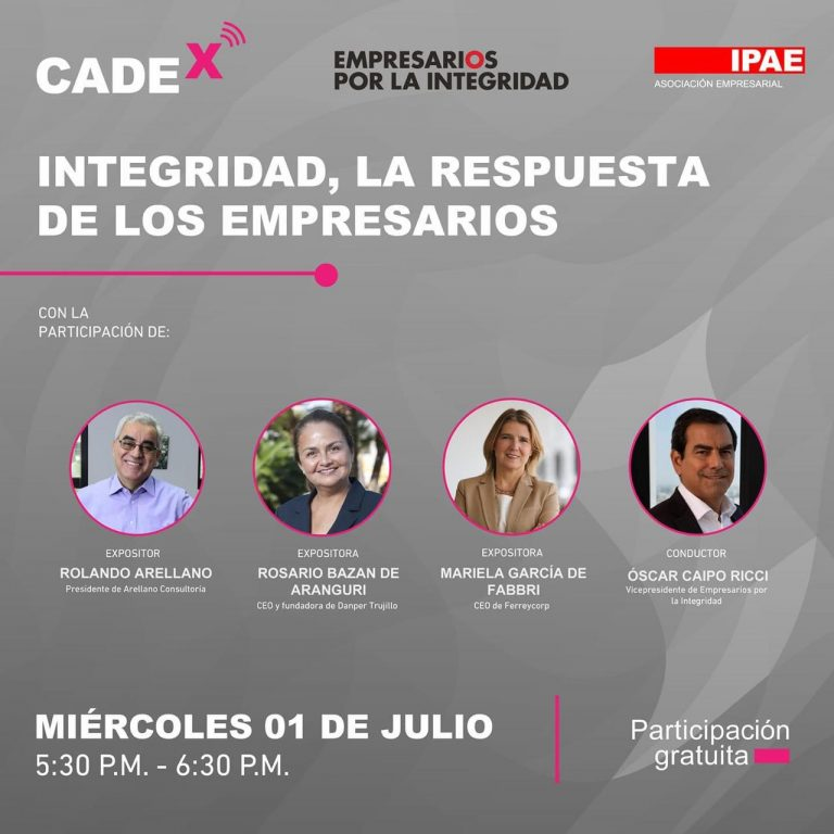 Participación de Óscar Caipo -Vicepresidente Empresarios por la Integridad